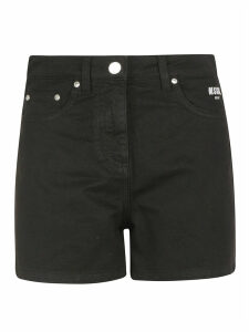 MSGM Bermuda In Denim/denim Shorts