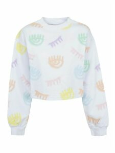 Chiara Ferragni Logomania Spray Crop Crewneck