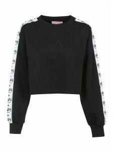Chiara Ferragni Tape Id Crop Sweatshirt