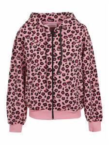 Chiara Ferragni Leopard Zip Hoodie