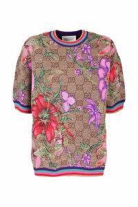 Gucci jacquard wool top