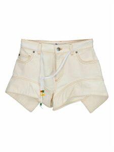 Jw Anderson Flared Hem Denim Shorts