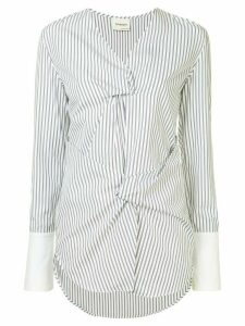 Monographie twisted shirt blouse - Blue