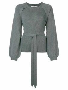 Chalayan puff sleeve ribbed sweater - Grey