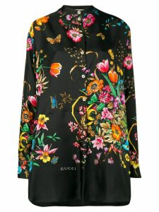 Gucci Flora print oversized shirt - Black