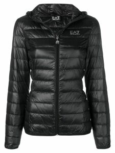 Ea7 Emporio Armani hooded puffer jacket - Black