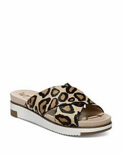 Sam Edelman Women's Audrea Leopard-Print Platform Slide Sandals