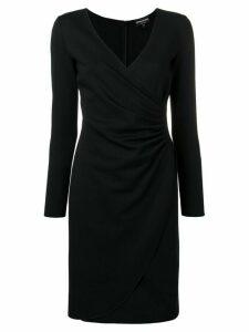 Emporio Armani wrap front dress - Black