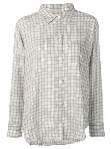 Masscob Brien check shirt - White