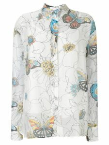 See by Chloé floral print shirt - White