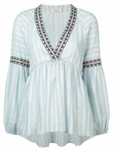 lemlem Nefasi striped peplum blouse - Blue