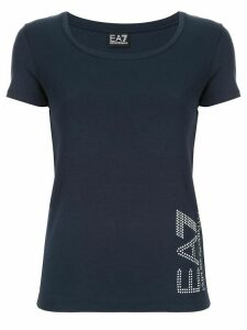 Ea7 Emporio Armani scoop neck T-shirt - Blue