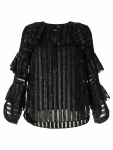 Elie Tahari Mirma striped blouse - Black