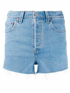 Levi's frayed denim shorts - Blue