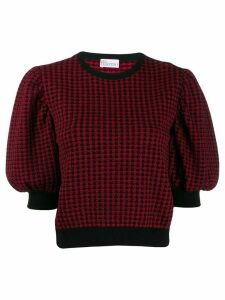 Red Valentino jacquard knit bell sleeved top