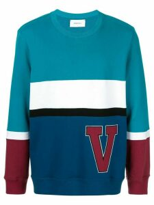 Ports V striped logo sweatshirt - Blue