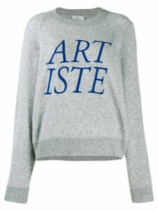 Closed Artiste embroidered sweater - Grey
