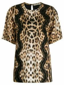 Roberto Cavalli animalier T-shirt - Brown
