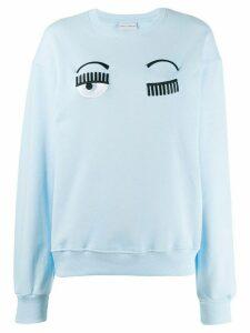 Chiara Ferragni eye appliqué sweatshirt - Blue