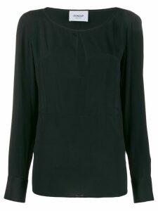 Dondup tear neck blouse - Black