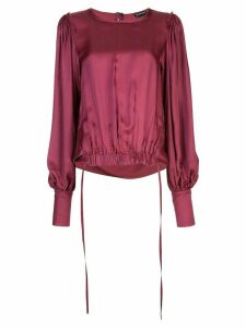 Ann Demeulemeester elasticated hem blouse - PURPLE
