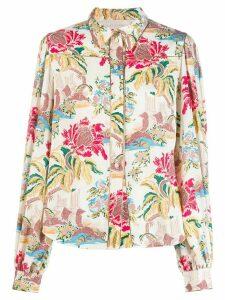 Peter Pilotto floral print shirt - White