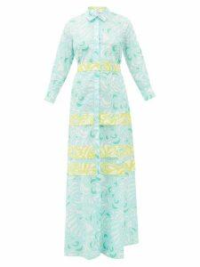 Evi Grintela - Dahlia Paisley-print Cotton Shirtdress - Womens - Blue Print