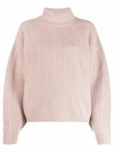 Le Kasha Rennes chunky knit jumper - PINK