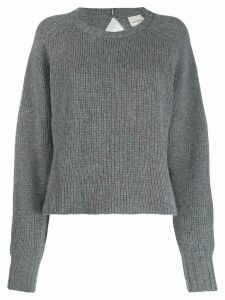 Le Kasha Komaki boat neck jumper - Grey