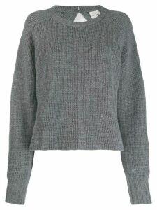 Le Kasha Komaki boat neck jumper - Grey