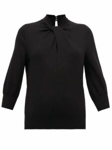 Erdem - Rumer Twisted-neckline Cashmere-blend Sweater - Womens - Black
