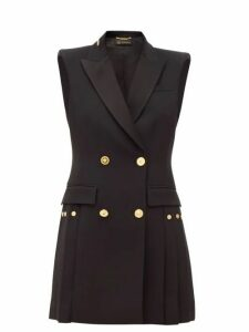 Versace - Double-breasted Crepe Tuxedo Mini Dress - Womens - Black