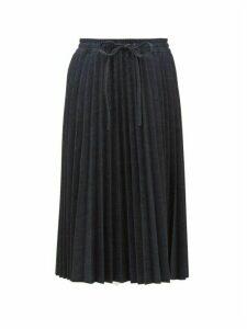 REDValentino - Pleated Denim Skirt - Womens - Dark Denim