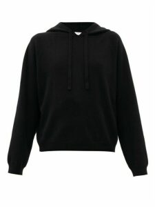 Allude - Raglan-sleeve Virgin Wool-blend Hooded Sweatshirt - Womens - Black