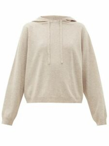 Allude - Hooded Wool-blend Sweater - Womens - Light Grey