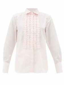Officine Générale - Laeticia Ruffled Cotton-poplin Shirt - Womens - Light Pink