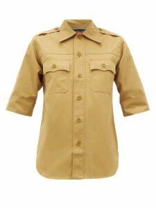 La Fetiche - Alice Cotton Utility Shirt - Womens - Beige Multi