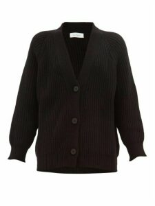 Ryan Roche - V-neck Ribbed Cashmere Cardigan - Womens - Black