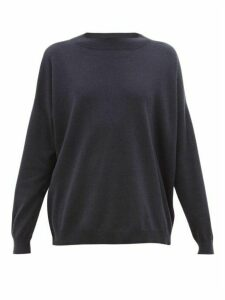 Brunello Cucinelli - Embellished Round-neck Cashmere Sweater - Womens - Navy
