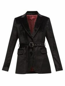 Sies Marjan - Terry Single-breasted Belted Velvet Jacket - Womens - Black