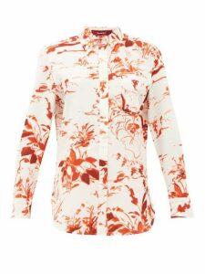 Sies Marjan - Sander Abstract-print Crepe Shirt - Womens - Orange Print