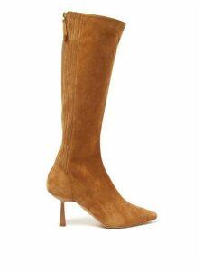 Aquazzura - Curzon 75 Suede Knee-high Boots - Womens - Tan