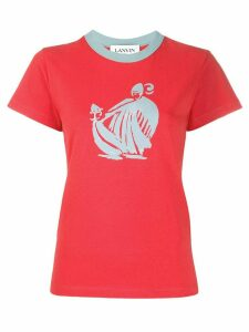 LANVIN graphic print T-shirt - Red