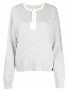 Zadig & Voltaire Watson two tone sweatshirt - Grey