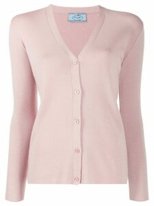 Prada V-neck knitted cardigan - PINK