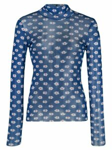 Callipygian printed turtleneck jumper - Blue