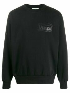 Aries Column loose fit sweater - Black