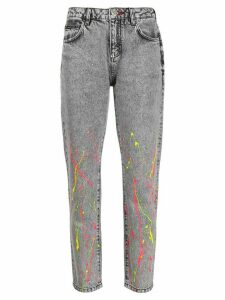 Philipp Plein embroidered jeans - Black