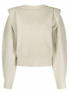 Isabel Marant Bolton ruffled boxy-fit jumper - NEUTRALS