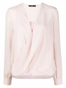 Steffen Schraut draped blouse - PINK